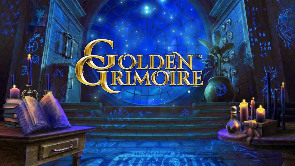 New online slots at LottoGo.com include NetEnt Golden Grimoire